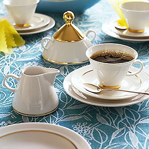Arabia Harlekin Gold coffee set